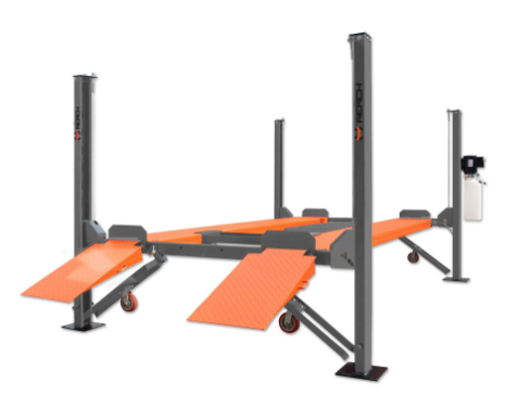 China cheap four post car lift with manual Featured Image