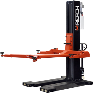 Cheap hydraulic mechanical and movable single post car lift