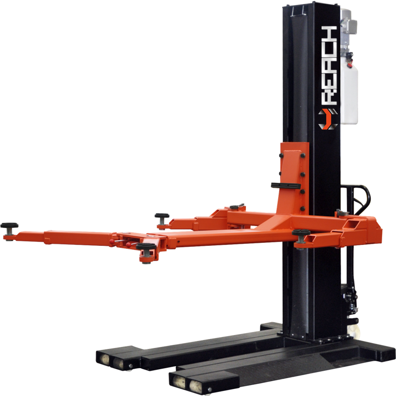 RH-M2500 Cheap hydraulic mechanical and movable single post car lift Featured Image