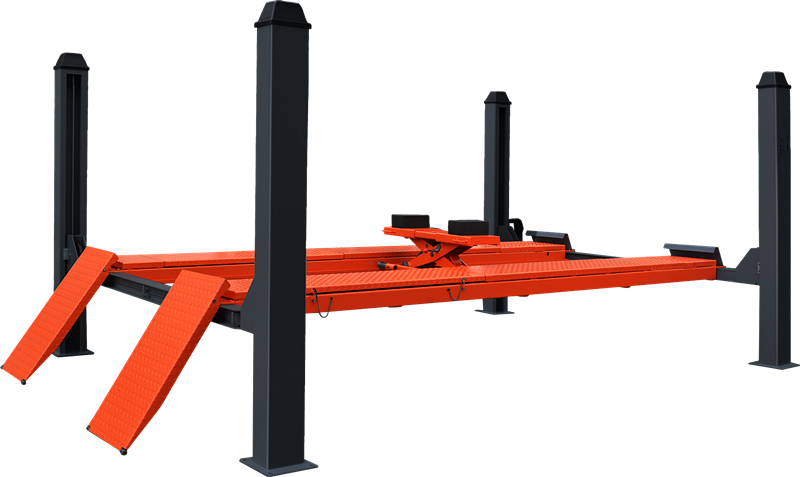 High quality Four Post Car Lift For Wheel Alignment Equipment Featured Image