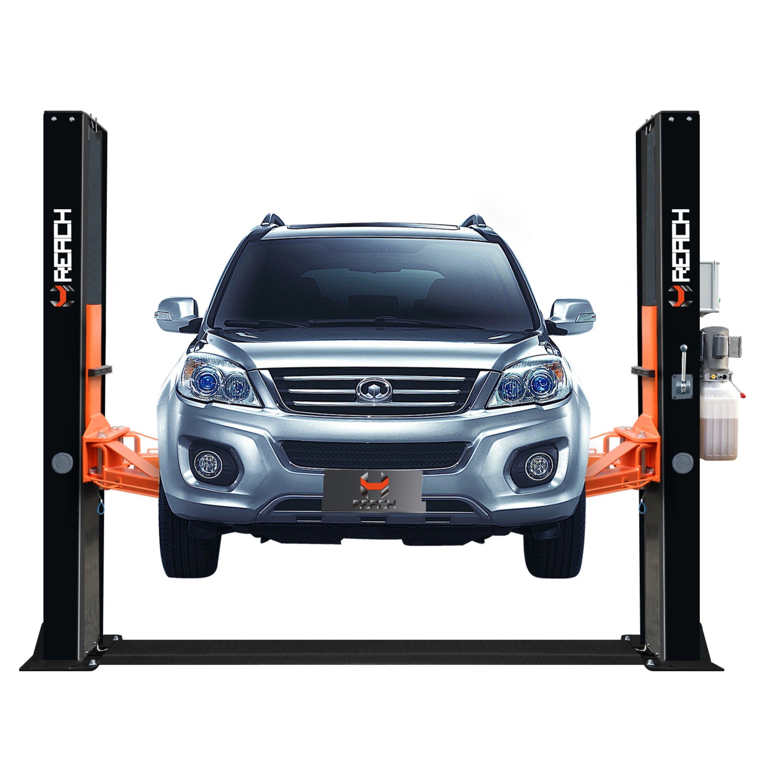 RH-BS4000 Cheap 4 tons double cylinder 2 post car lifts with CE Featured Image
