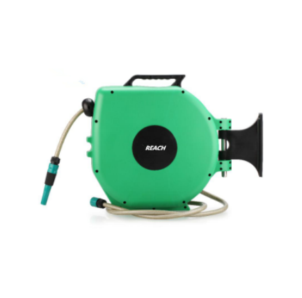 Auto garden hose reel auto lock and slow retractable water hose reel Featured Image