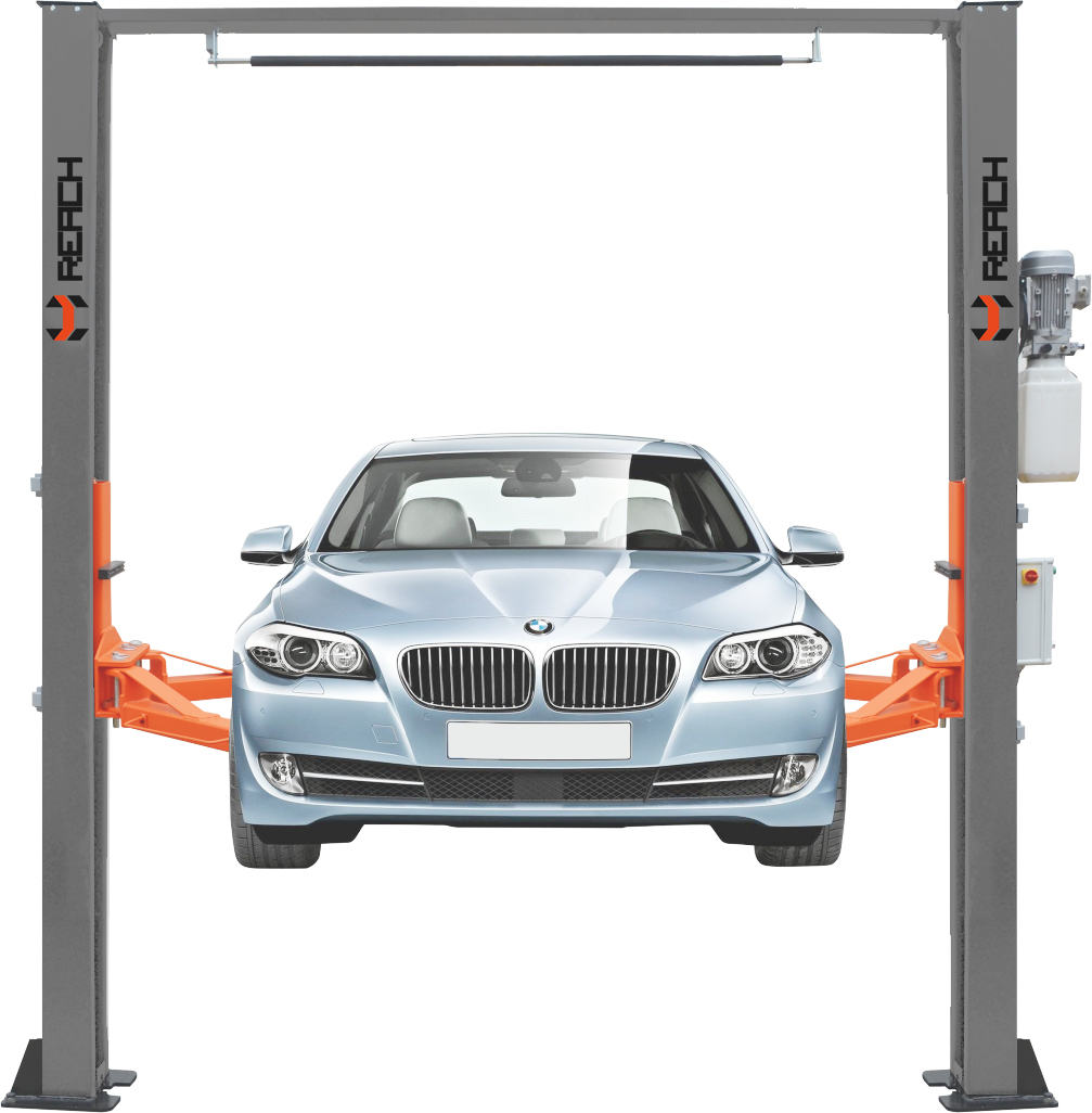 Single side automatic release car lift clear floor type Featured Image