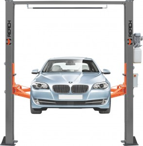 Single side automatic release car lift clear floor type