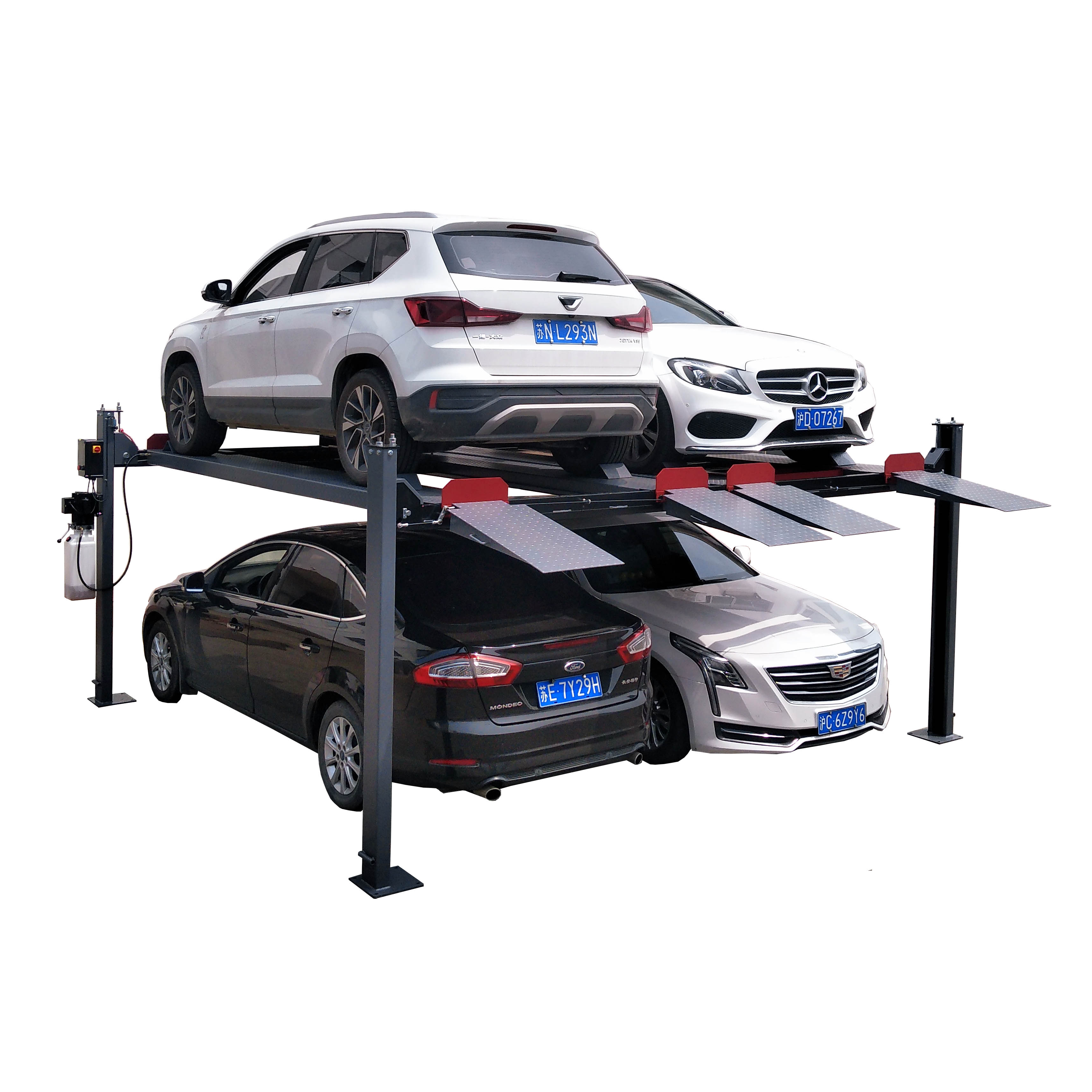 CE hydraulic parking lift used 2+2 four post car lift for sale Featured Image