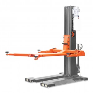RH-M2500ES REACH Single post car lift auto hydraulic lift 1 post car lift