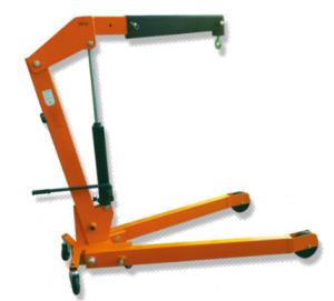 Portable Floor Crane Foldable Engine Crane With 3 Ton
